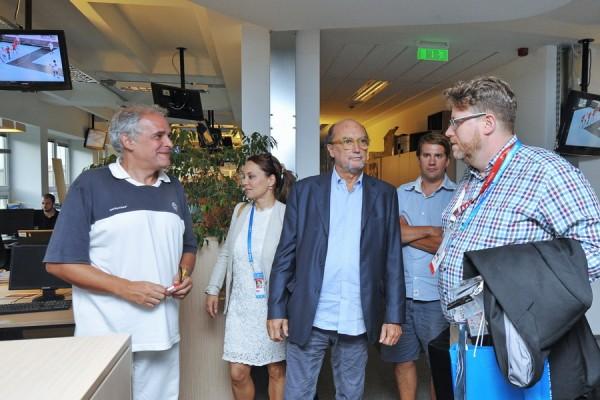 20170725 Budapest Gianni Merlo's visit to  Nemzeti Sport
